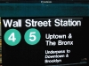 Picture of Wall Street subway sign for Rob Kelly blog