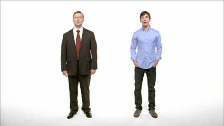 Apple is ok alienating 80%+ of computer prospects (represented by PC/Windows guy on the left) in order to attract hipper prospects like the Mac Guy (on right).